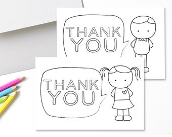 image relating to Printable Thank You Cards for Students identified as Fill-in just-the-Blank Printable Thank Oneself Playing cards for Young children // Fill