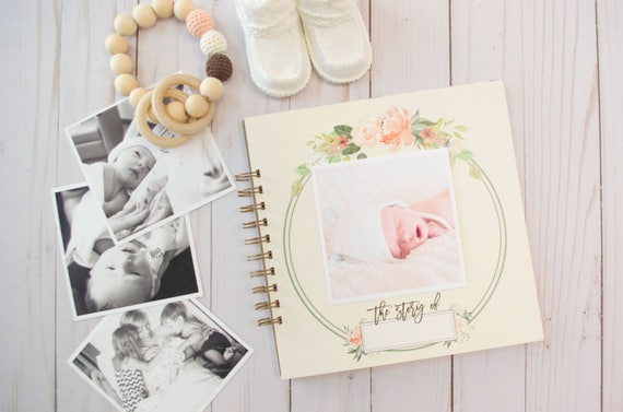 Watercolor Floral Baby Book Personalized Baby Book Baby Book Etsy