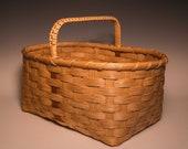 Medium hand woven Appalachian market basket