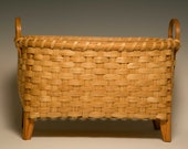 Hand woven small wool drying basket