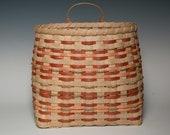 Hand woven wall basket