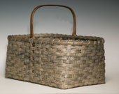 Hand woven Shaker style market basket