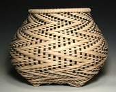 Fibonacci in Reverse-twill handwoven cat 39 s head basket