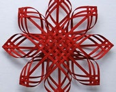 Large hand woven red Carolina Snowflake