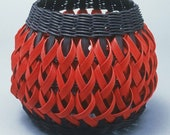Penland Pottery Basket in black and red