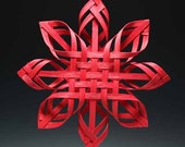 Big Red Hand Woven Carolina Snowflake