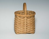Hand woven mini market basket - 7 inches tall
