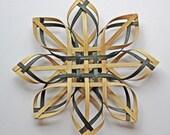 hand woven Carolina Snowflake in walnut and green