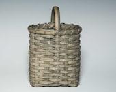Handwoven mini market basket- driftwood color