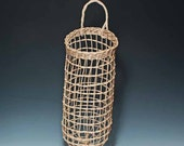 Hand woven walnut onion potato basket
