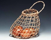 hand woven walnut Onion Basket