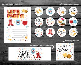 Nacho Libre Party Printable Kit