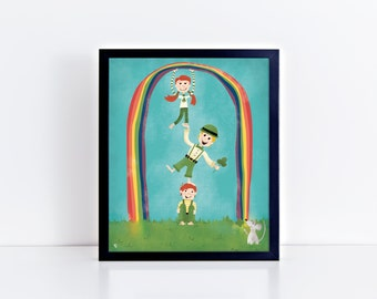 SALE! ** Little Leprechauns 8 x 10 Inch Fine Art Print