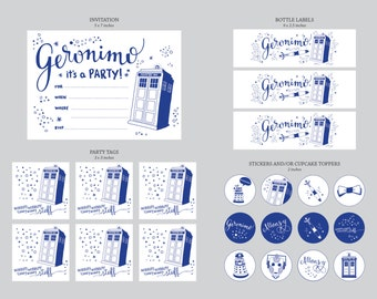 Doctor Who Party Printable Kit