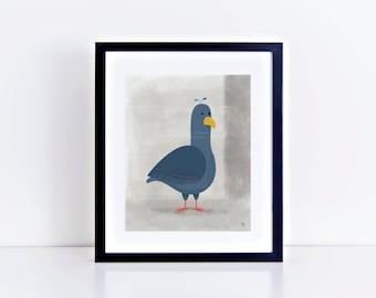 NYC Pigeon 8 x 10 inch Fine Art Print