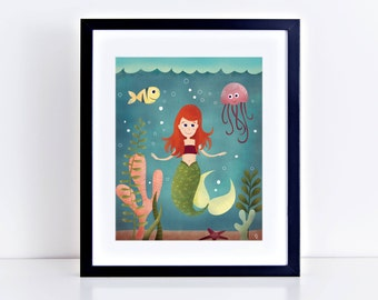A Little Mermaid 8 x 10 Inch Fine Art Print