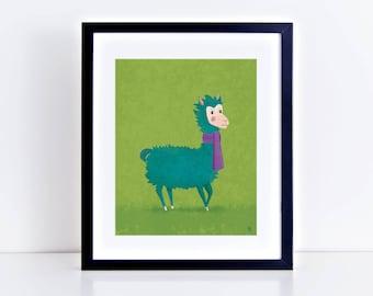 SALE! ** Grumpy Llama 8 x 10 Inch Fine Art Print
