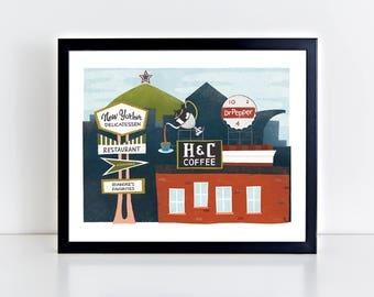 Roanoke, Virginia 8 x 10 inch Fine Art Print