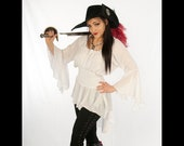 Dress Like A Pirate Soft Flowing Light as a Feather Lady Cutlass Blouse Multi Size Fit