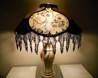 Old world lampshade etsy lace lamp shade vintage elegant one of kind handmade lampshade design french quarter romance aloadofball Choice Image