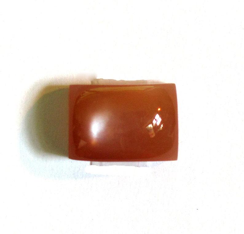 Moonstone Red ~ Square Cabochon Natural Red-Orange Gemstone Designer Cabochon Certified