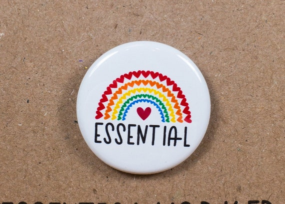 Essential Workers Hero Pin Pinback Buttons