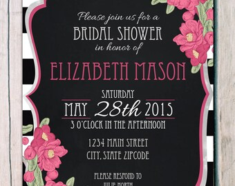 printed bridal shower invitations · lunch party invitation · hen party invitation · bachelorette party invitation