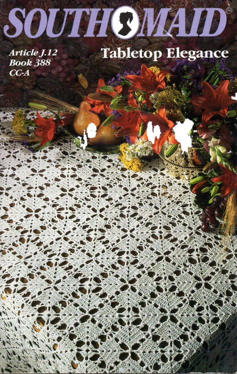 Copy from vintage booklet. Bedspread bed cover crochet pattern