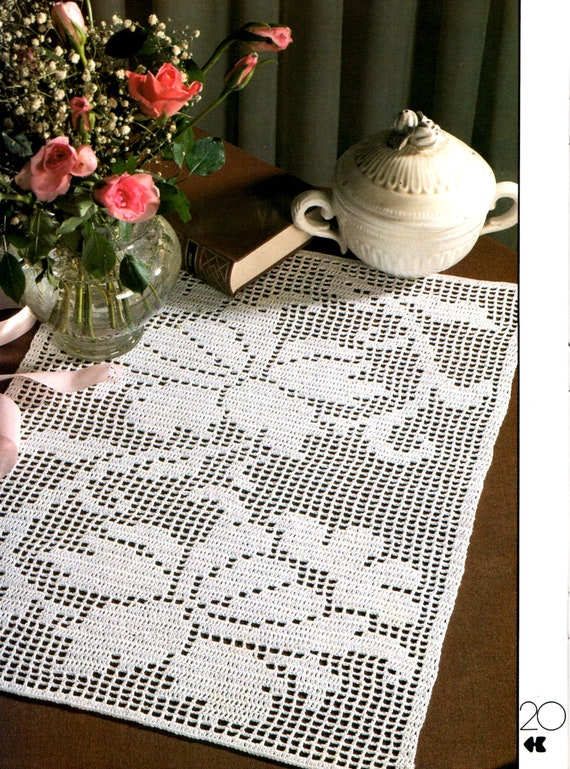 Vintage Filet Crochet Pattern Nice And Neat From Decorative Etsy