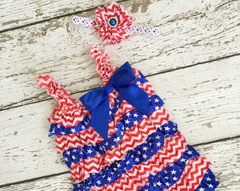 Diy Christmas In July Outfit.4th Of July Baby Girl Outfit Etsy