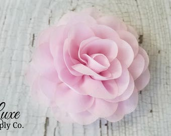 Fabric flowers etsy limited color edition fabric roses 35 inches you choose the quantity light rose pink diy baby headbands bulk fabric flower heads mightylinksfo