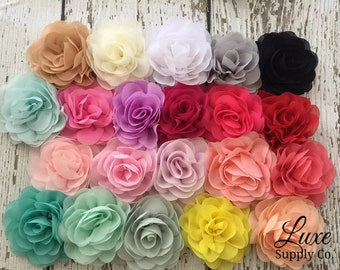 Fabric flowers etsy soft fabric roses 35 inches you choose the colors and quantity 19 colors available diy baby headbands bulk fabric flower heads mightylinksfo