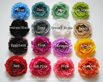 GRAB BAG - Ruffled Ranunculus Artificial Flower Heads - DIY Specialty Craft Supplies - Wholesale Flowers