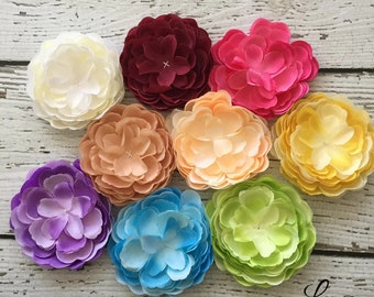 CLEARANCE GRAB BAG - Gorgeous Artificial Flower Appliques with No Rhinestone Center