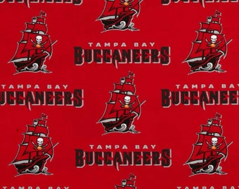 """Tampa Bay Buccaneers Fabric - 18"""" x 58"""" 100% Cotton - Same Day Shipping"""