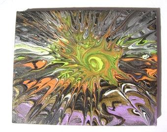 Solar Apocalypse - Original Acrylic Painting Canvas - 8 x 10