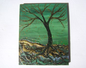Chlorophyll - Original Acrylic Painting - Stretched Canvas - 10 x 8