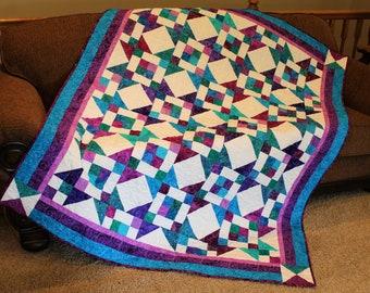 BEAUTIFUL Jeweled Moda Fabric Island Sun Quilt Kit
