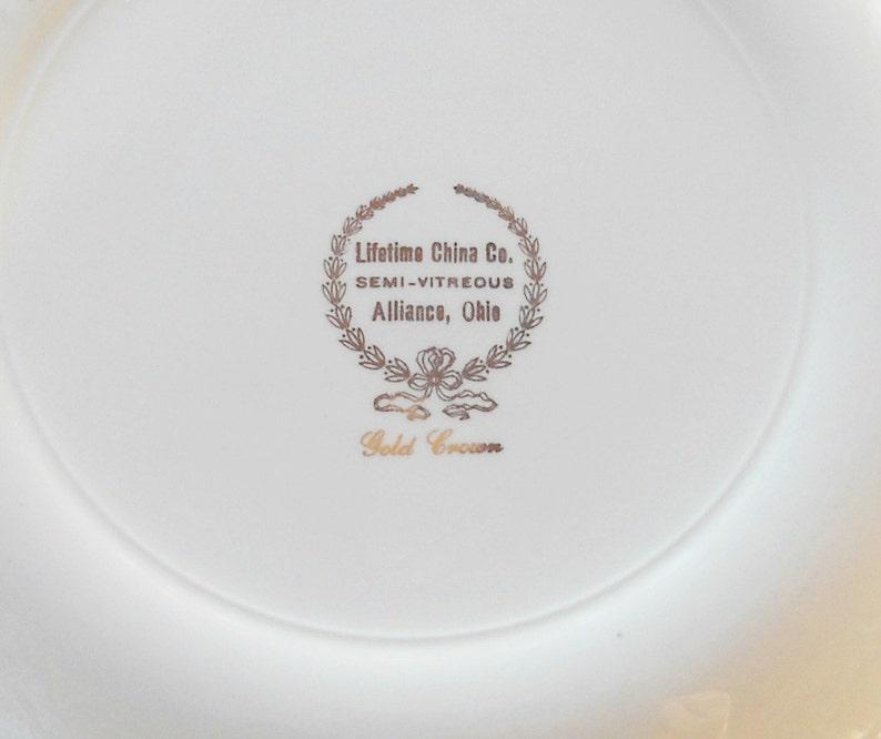 Cake Plate Vintage Homer Laughlin Lifetime Dinner Plate Wedding Mid Century China