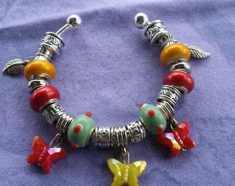 Fight of Butterfly's, Euro style bracelet