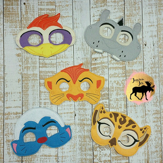 Lion Guard 5 Masks inspired dress up and birthday party | Etsy
