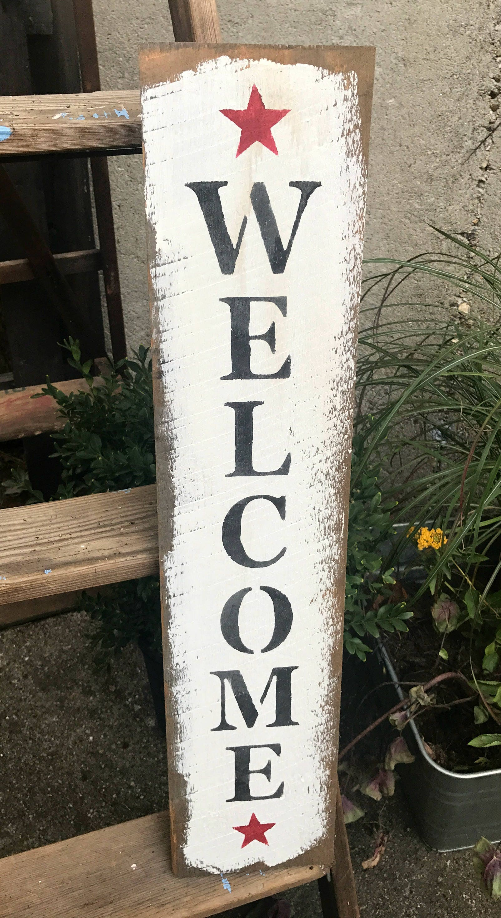 Wood Welcome Sign Front Door Decor Welcome Home Welcome Etsy