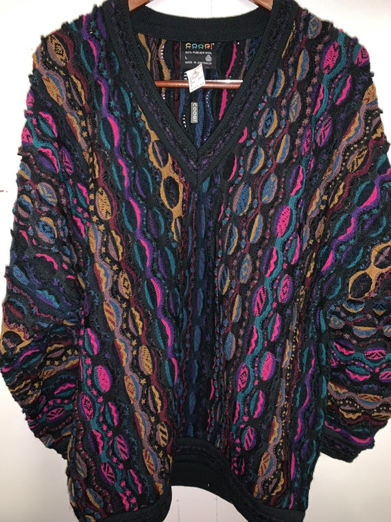 Vintage 90s wool Coogi Sweater, Biggie Smalls swea