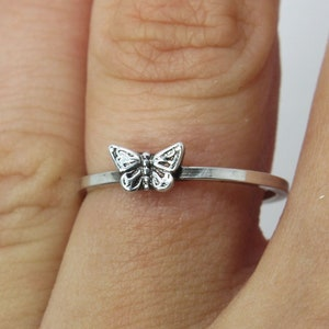 tiny butterfly Wanderlust Ring Butterfly ring delicate butterfly ring gift present Sterling silver ring /'/'Butterfly/'/' knuckle ring