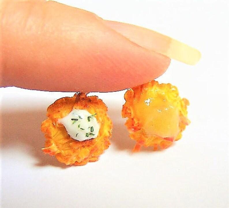 Food Jewelry Latke Earrings Miniature Food Jewellery Clip image 0
