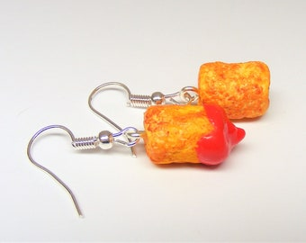 Food Jewelry Tater tot Earrings, Tater tots, Tater Jewelry, Miniature Food Earrings, Mini Food Jewellery, Tater tot Charm, Fried Potatoes
