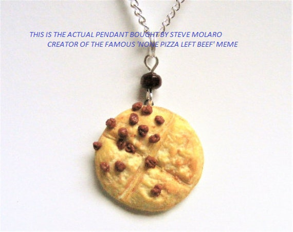None pizza with left beef necklace pizza necklace miniature etsy image 0 aloadofball Images