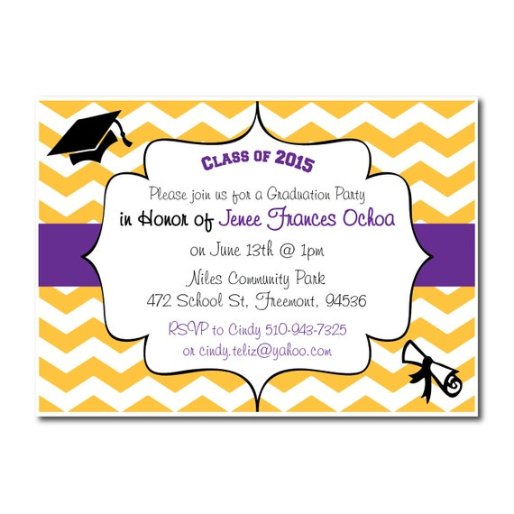 "Graduation Party Invitation | 4x6"" or 5x7"" 
