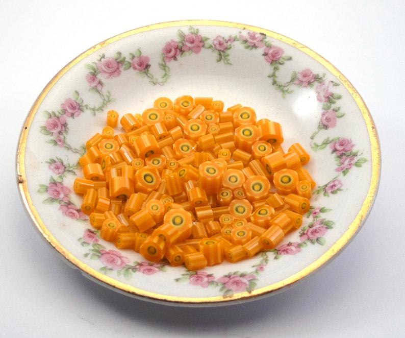 Pucker Up!.....Handmade Murrini Chips...Millefiori Slices orange summer lemon lime citrus COE 104....Beatlebaby Supplysra
