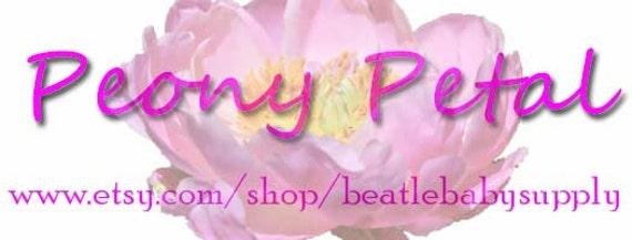 Peony Petal.....Handmade Murrini Chips...Millefiori Slices Pink Flower Summer COE 104....Beatlebaby Supply